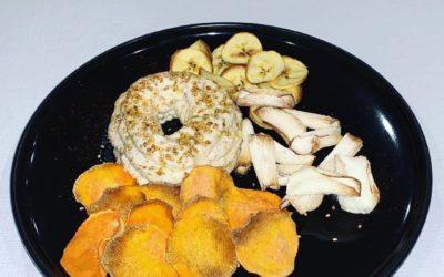 Hummus de coliflor e tenreira «Strogonoff», receitas de Alberto «Casa Currás» en Xuntos na cociña